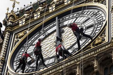 الزمن يتوقف في لندن!!