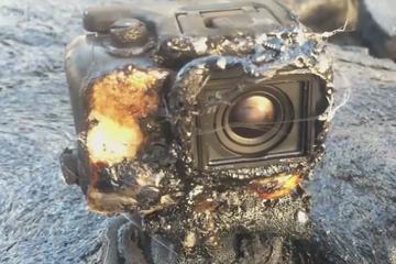كاميرا داخل بركان!