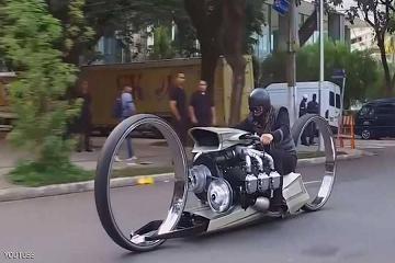 دراجة بمحرك طائرة!!